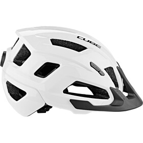 Cube Steep Helmet glossy white